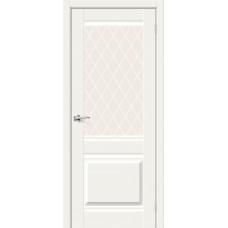 Прима-3 White Mix/White Сrystal, Двери Браво
