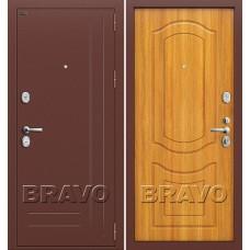 Р2-200 Антик Медь/П-2 (Светлый Орех) Двери Браво, Входные двери Bravo