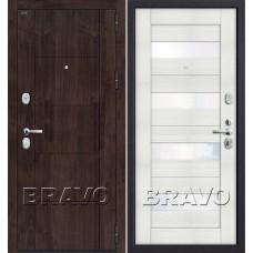 T3-223 П-28 (Темная Вишня)/Bianco Veralinga (Dveri Bravo) Браво