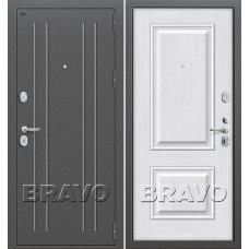 T2-232 Антик Серебро/Milk Oak, Dveri Bravo, Браво