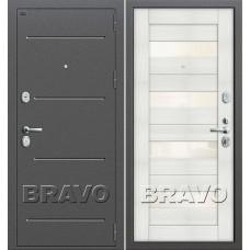 Т2-223 Антик Серебро/Bianco Veralinga (Двери Браво), Bravo