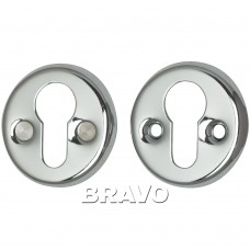 Накладка под цилиндр Bravo FIN 016-СL C Хром