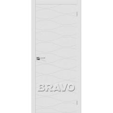 Двери Браво, Граффити-3 К-33 (Белый), Bravo