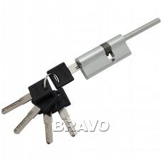 Цилиндр ключ/фиксатор со штоком Groff BFS-75 (45*30+) C Хром