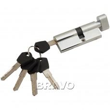 Цилиндр Ключ-фиксатор Avers АМ-80-С (45*35) CR Хром